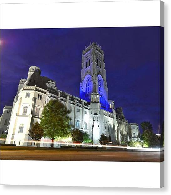 God Canvas Print - Scottish Rite Cathedral Downtown by David Haskett II