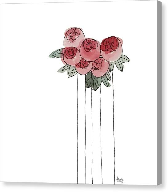 Spring Canvas Print - Scottish Rose by Merrily Hall