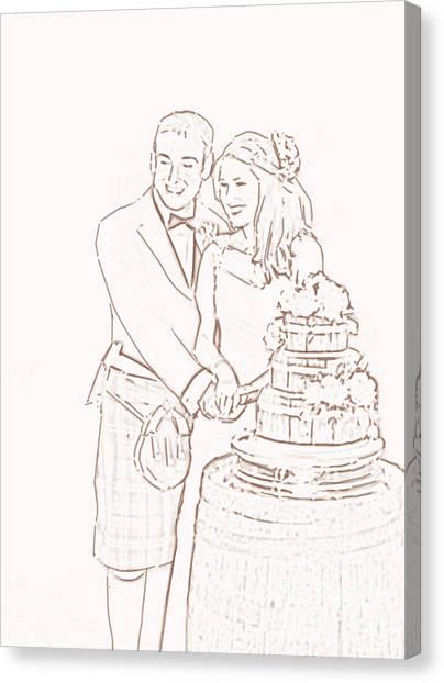 Scottish Wedding Canvas Print