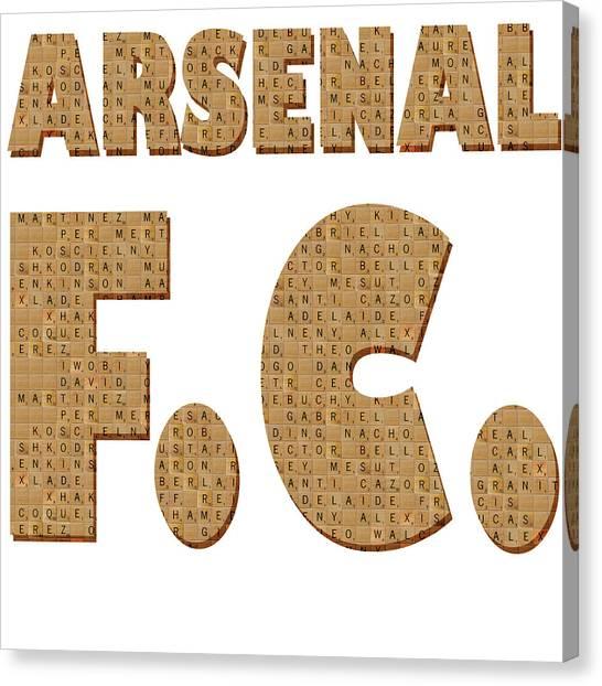 Arsenal Fc Canvas Print - Scrabble Arsenal by Gary Hogben