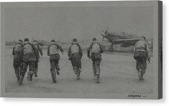 Hurricanes Canvas Print - Scramble by Wade Meyers