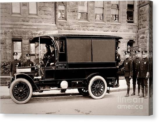 Scranton Pennsylvania  Bureau Of Police  Paddy Wagon  Early 1900s Canvas Print