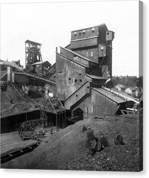 Scranton Pennsylvania Coal Mining - C 1905 Canvas Print