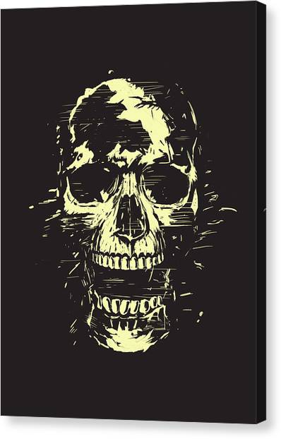 Skulls Canvas Print - Scream by Balazs Solti