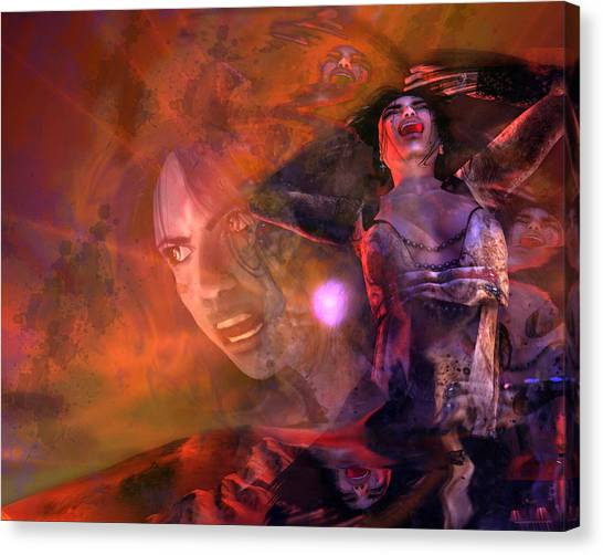 Profile Canvas Print - Scream by Monroe Snook