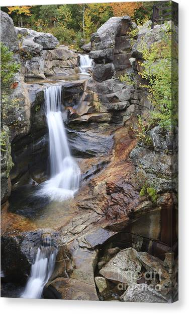 Screw Auger Falls - Maine  Canvas Print