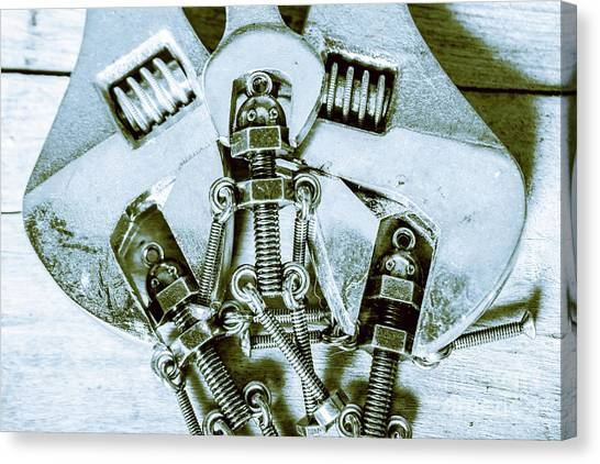 Wrenches Canvas Print - Screwed Blockchain Bots by Jorgo Photography - Wall Art Gallery