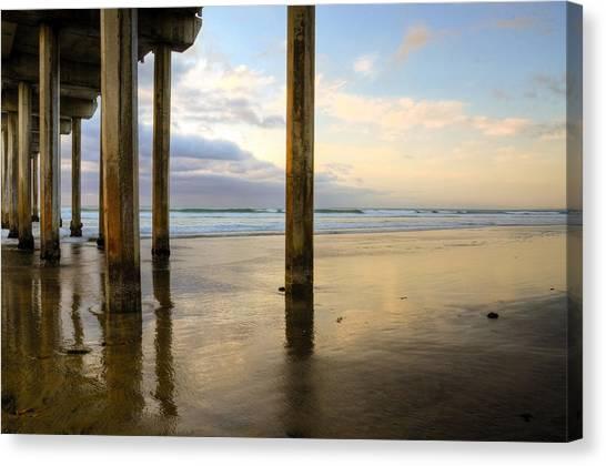 Scripps Pier Canvas Print - Scripps La Jolla Pier by Kelly Wade
