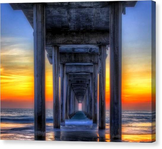 Scripp's Pier Sunset La Jolla California Canvas Print