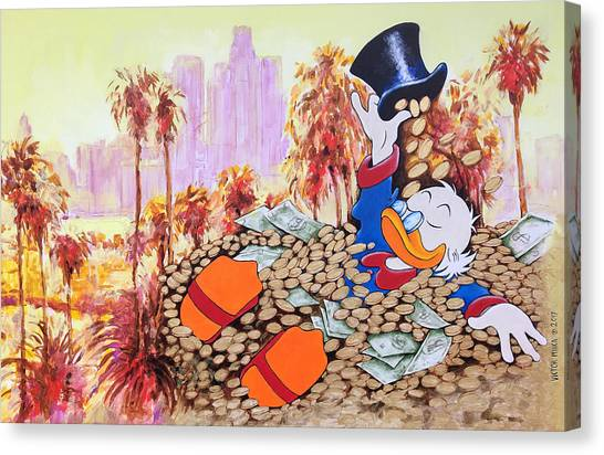 Scrooge In La Canvas Print