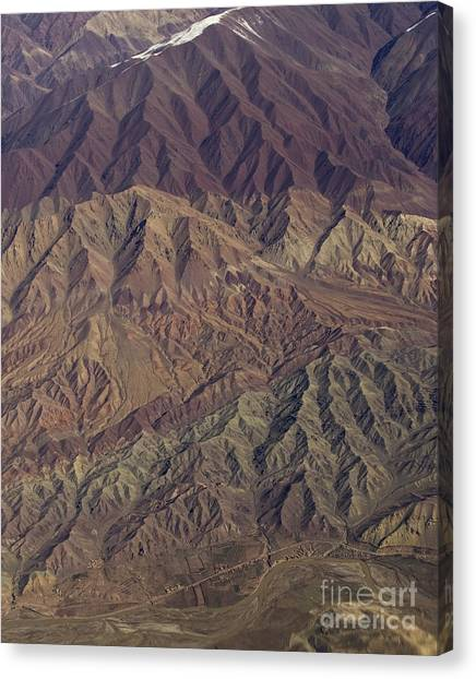 Hindu Kush Canvas Print - Sculptured Hills- Afghanistan by Tim Grams