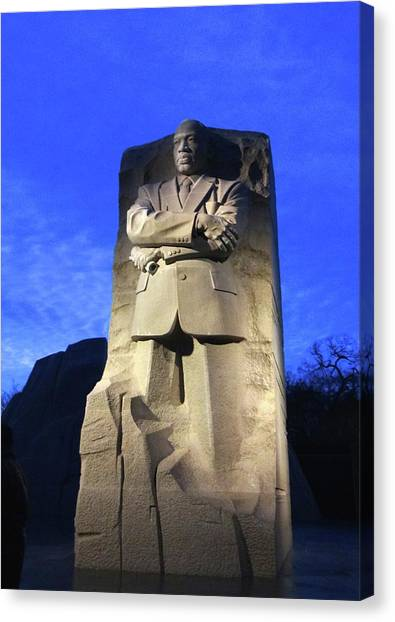 Sculptured Profile Martin Luther King Jr. Canvas Print