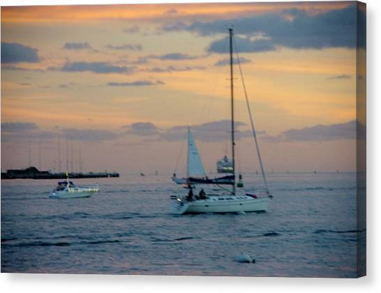 Sd Sunset 3 Canvas Print