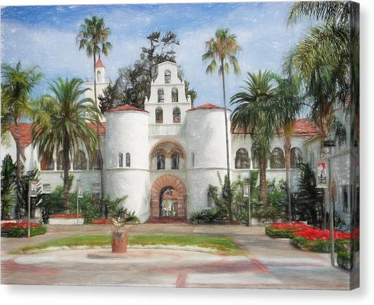 Sdsu Drawing Canvas Print