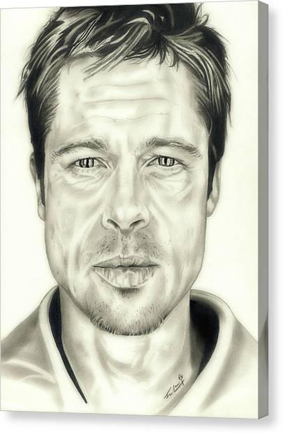 World War Z Canvas Print - Se7en Brad Pitt by Fred Larucci