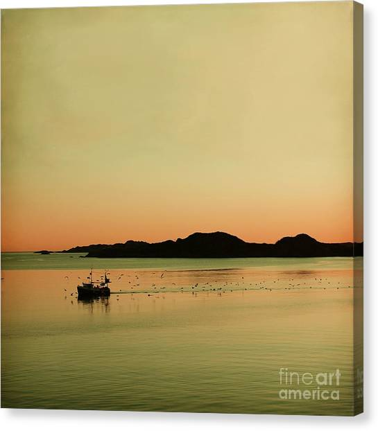 Sea After Sunset Canvas Print