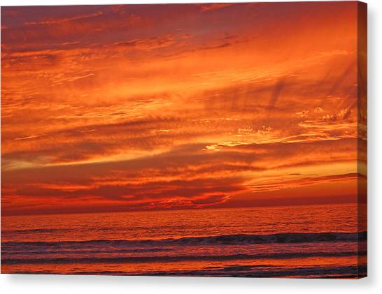 Sea And Sky Canvas Print by Jean Booth