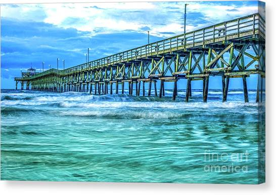 Sea Blue Cherry Grove Pier Canvas Print