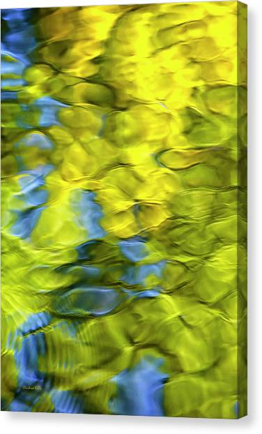 Sea Breeze Mosaic Abstract Canvas Print