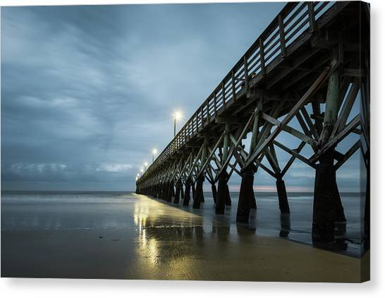 Beach Cabin Canvas Print - Sea Cabin Pier by Ivo Kerssemakers