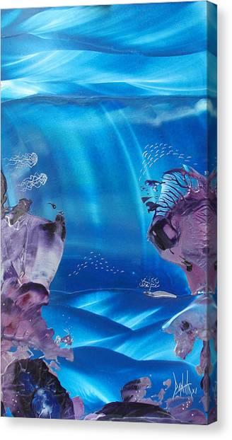 Sea Fan Reef Canvas Print by Danita Cole