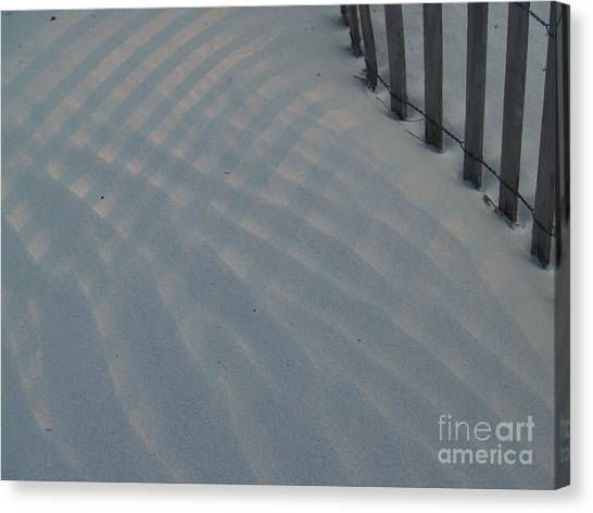 Sea Fence At Hunting Island Canvas Print by Anna Lisa Yoder