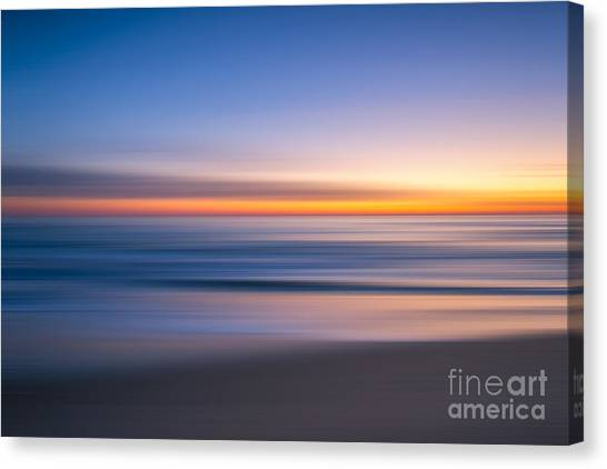 Sea Girt New Jersey Abstract Seascape Sunrise Canvas Print