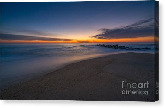 Sea Girt Sunrise New Jersey  Canvas Print