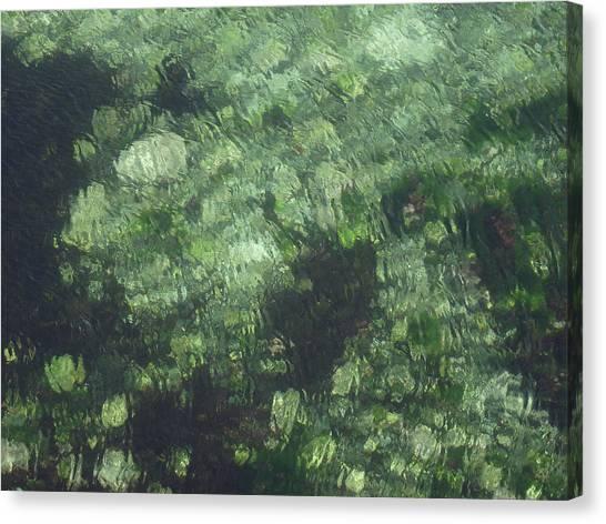 Sea Green Abstract Canvas Print
