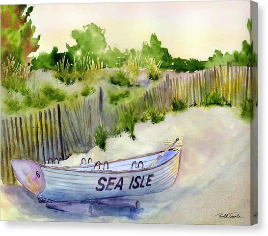 Sea Isle Rescue Boat Canvas Print by Paul Temple