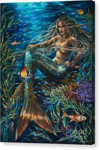 Sea Jewels Mermaid Canvas Print