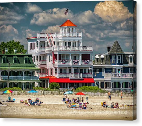 Sea Mist Hotel Canvas Print