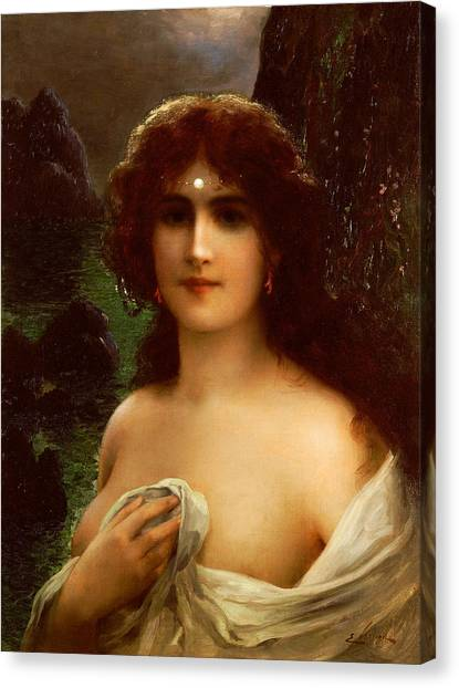 Nipples Canvas Print - Sea Nymph by Emile Vernon