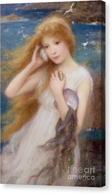 Conch Shells Canvas Print - Sea Nymph by William Robert Symonds