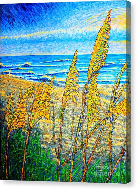Sea Oat,dual #1 Canvas Print