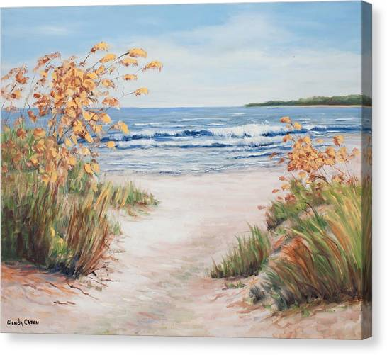 Sea Oats And Sunshine Canvas Print