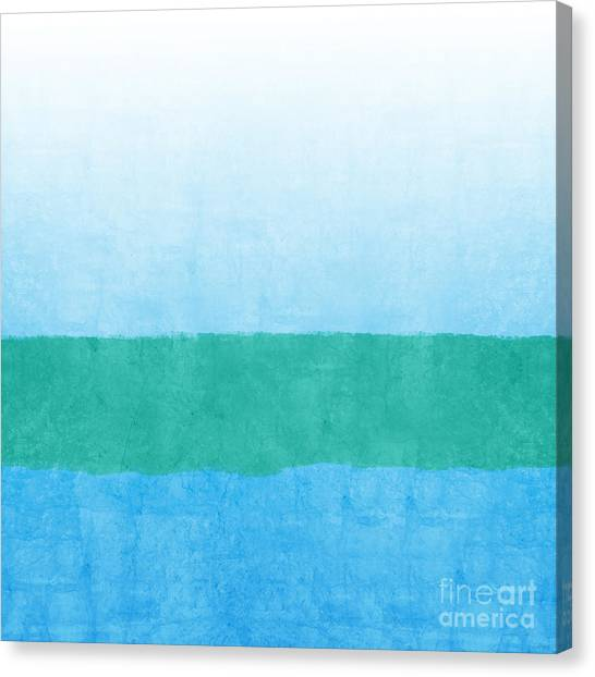 Loft Canvas Print - Sea Of Blues by Linda Woods