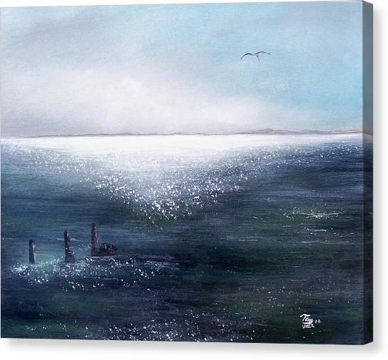 Sea Of  Glass Canvas Print by Tony Rodriguez