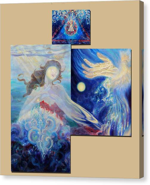 Canvas Print - Sea Of The Soul by Anne Cameron Cutri