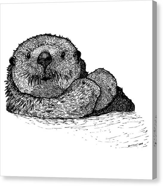 Sea Otter Canvas Print by Karl Addison