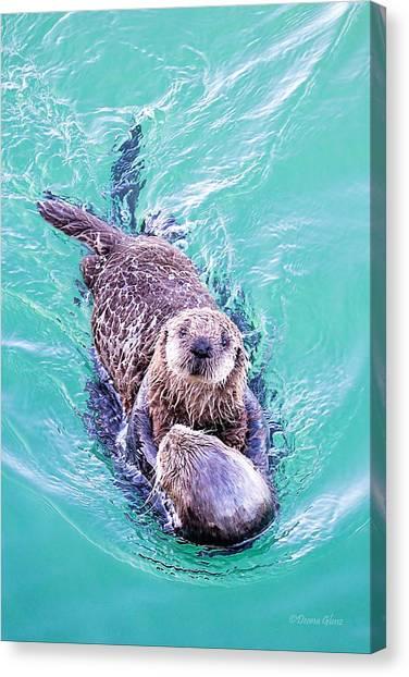 Sea Otter Pup Canvas Print