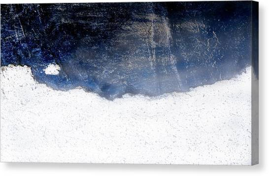 Sea, Satellite - Coast Line On Blue Ocean Illusion Canvas Print