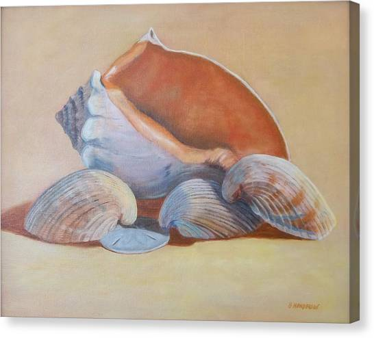 Sea Shells Canvas Print by Betty Henderson