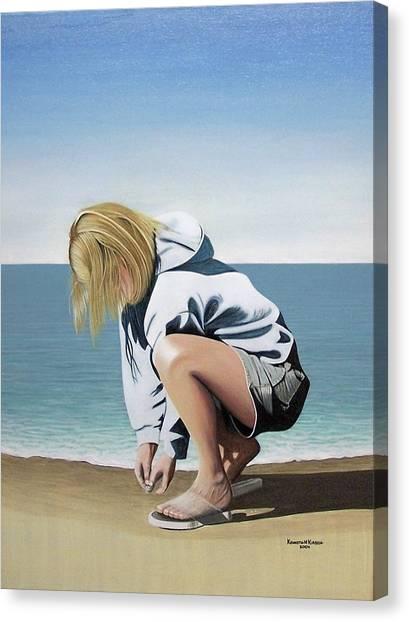Sea Shells On The Beach Canvas Print