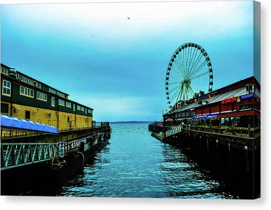 Sea Side, Seattle 2 Canvas Print