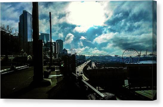 Sea Side, Seattle  Canvas Print