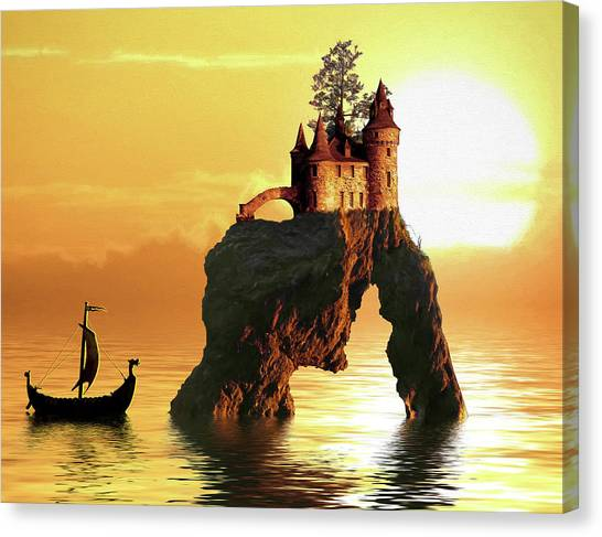 Sea Stack Castle Canvas Print
