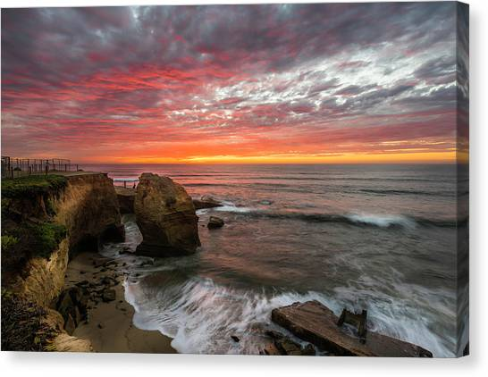 Sea Stack Sunset Canvas Print