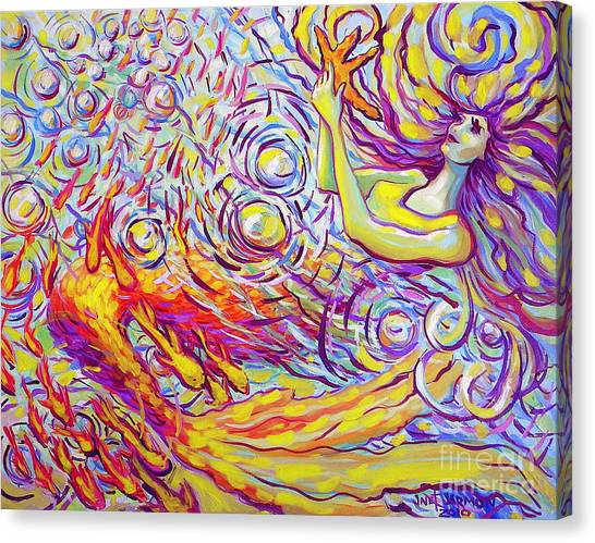 Canvas Print featuring the painting Sea Star by Jeanette Jarmon