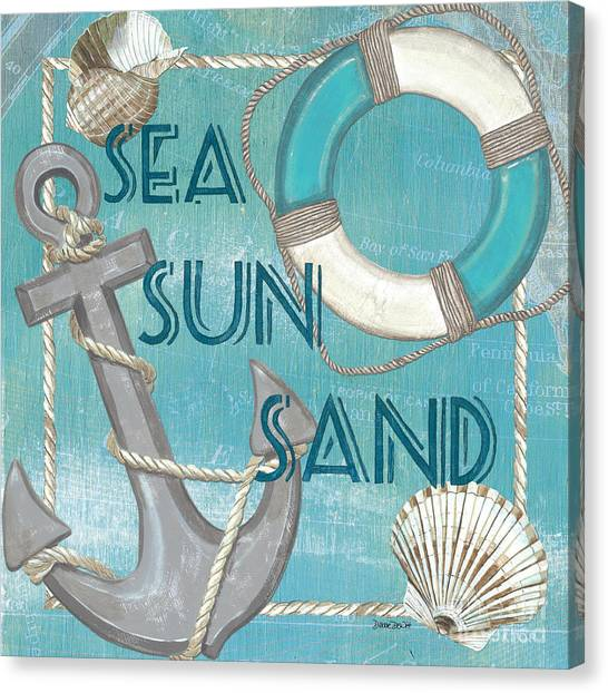 Ring Canvas Print - Sea Sun Sand by Debbie DeWitt